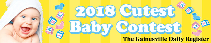 Gainesville Daily Register--2018 Cutest Baby Contest